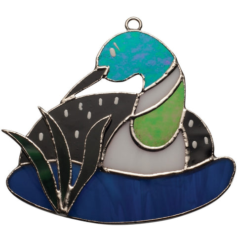 Stained Glass Loon Nightlight Cover