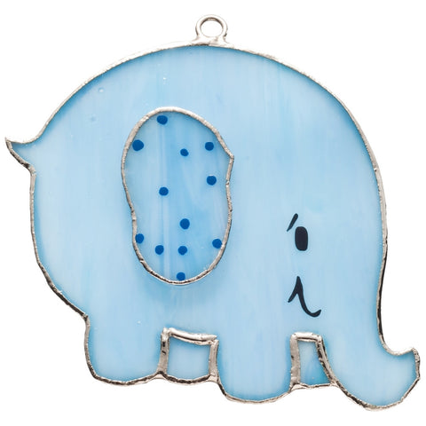 Stained Glass Blue Elephant Nightlight Cover