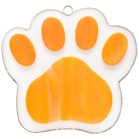 Stained Glass Orange Paw Nightlight Cover