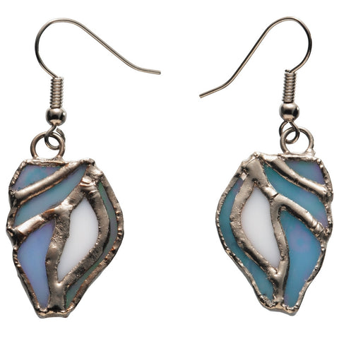 Stained Glass Seashell Earrings