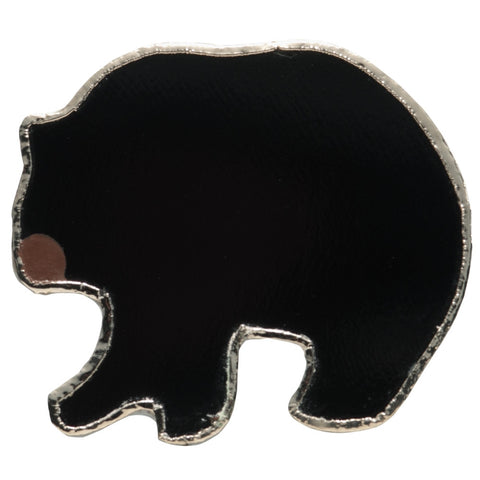 Stained Glass Black Bear Pin