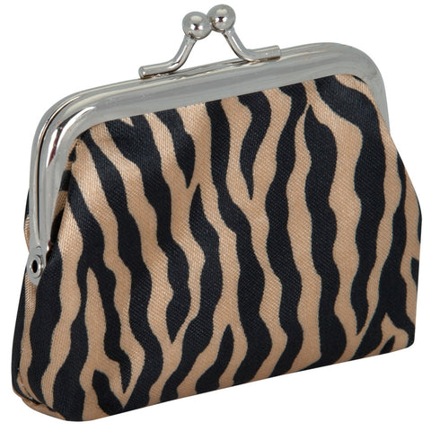 Gold Zebra Print Coin Purse