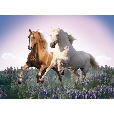 Free Horses 500 Piece Jigsaw Puzzle