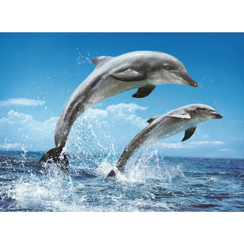 Dolphins in Action 1000 Piece Jigsaw Puzzle
