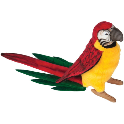 Realistic Replica Plush Yellow Parrot