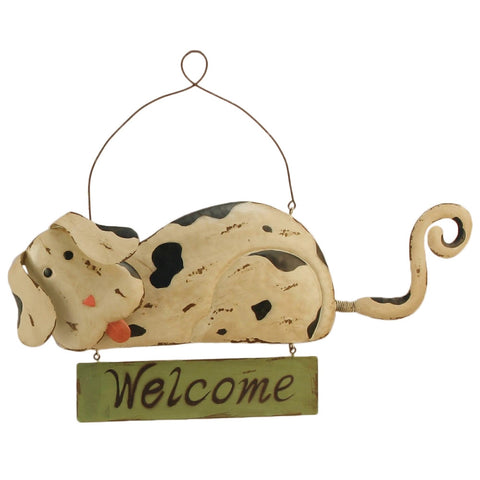 Dog Welcome Wall Plaque