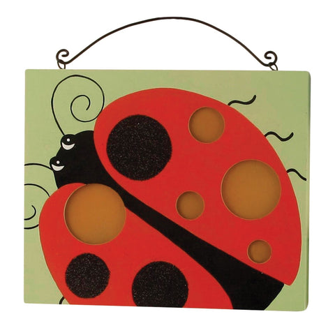 Ladybug Wall Plaque with Lights
