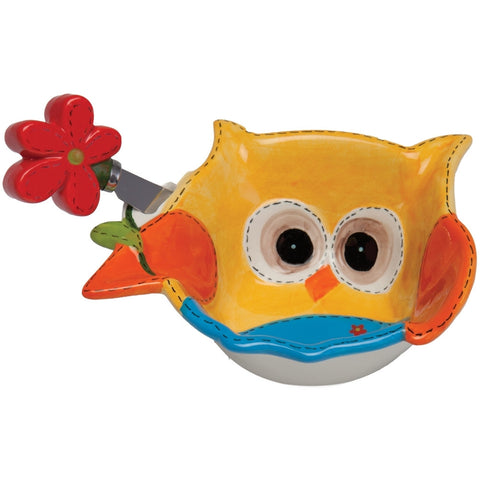 Owl Bowl with Spreader
