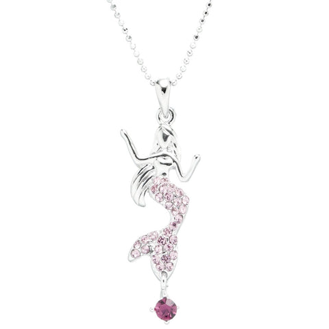 Mermaid Gemmed Tail Necklace