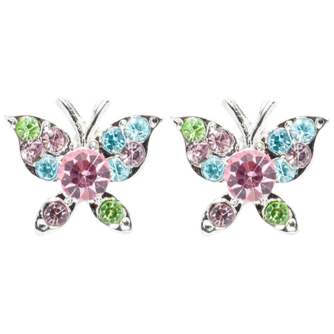 Butterflies Gemmed Body Stud Earrings