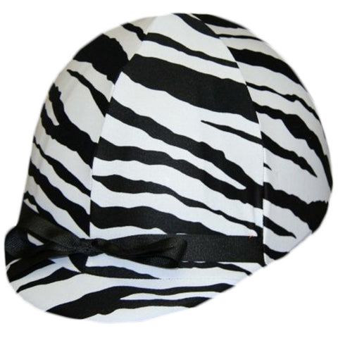 Equestrian Black and White Zebra Helmet Cover