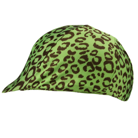 Equestrian Lime Leopard Print Helmet Cover