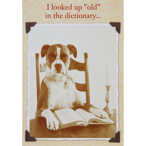 Defining Old Birthday Greeting Card