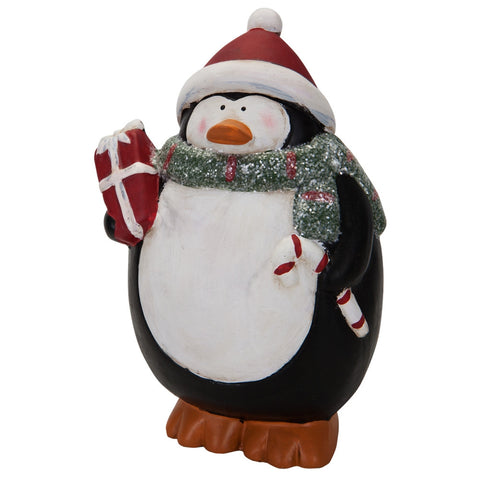 Christmas Penguin Figurine