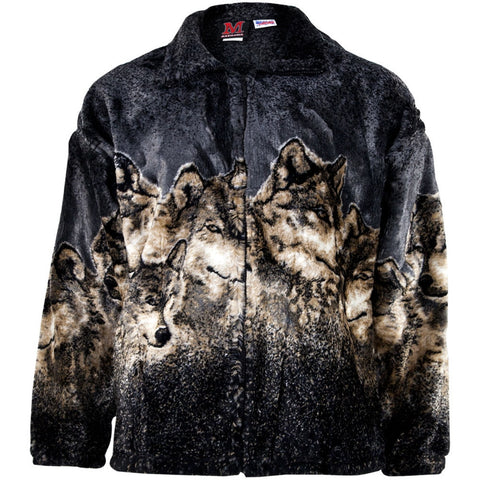 Wolves Pewter Fleece Zip Front Jacket