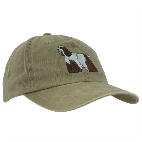 Chocolate & White Cocker Spaniel Adjustable Baseball Cap