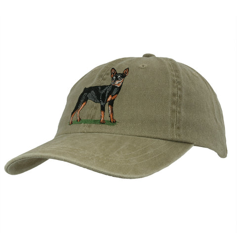 Miniature Pinscher Adjustable Baseball Cap