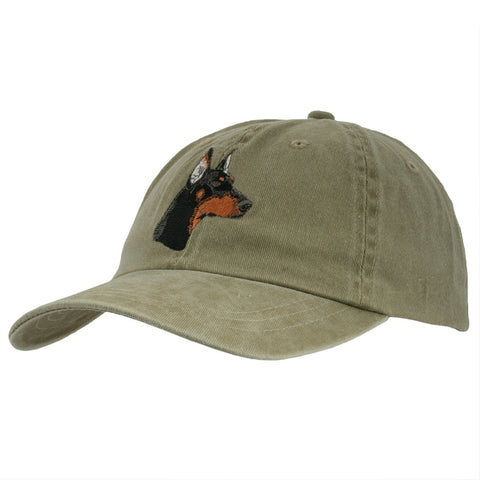 Doberman Head Adjustable Baseball Cap