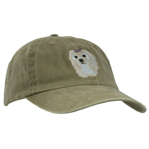 Maltese Head Adjustable Baseball Cap