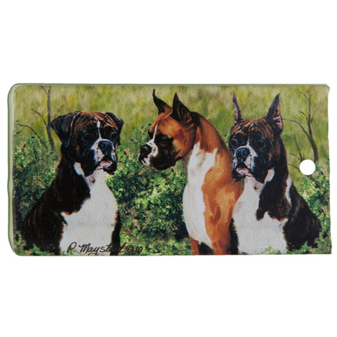 Boxer Portrait Bag Tag