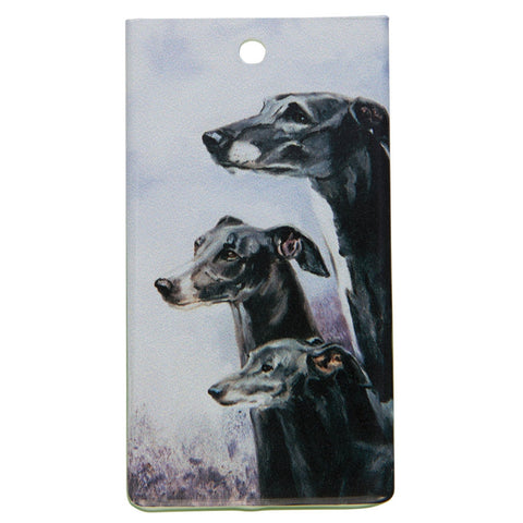 Greyhound Portrait Bag Tag