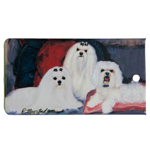 Maltese Portrait Bag Tag