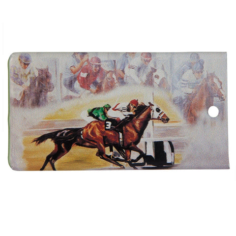 Race Horses Bag Tag