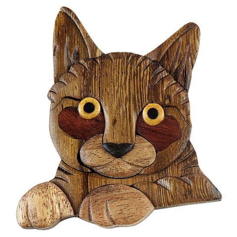 Cat Wooden Magnet