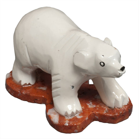 Marble Polar Bear Figurine