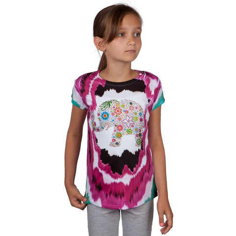 Floral Elephant Youth T-Shirt