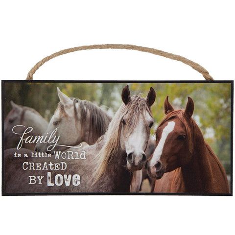 Horse Family Hanging Sign