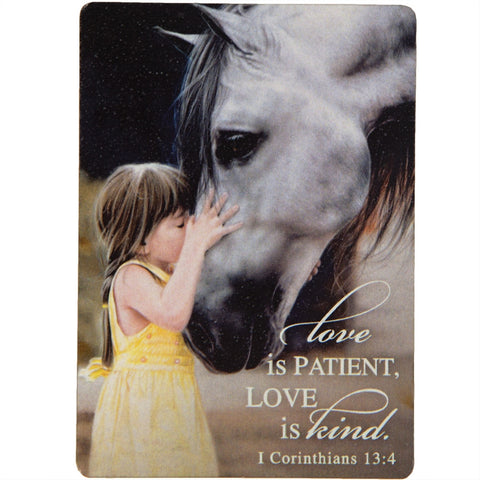 Love Is Patient Horse and Girl Magnet