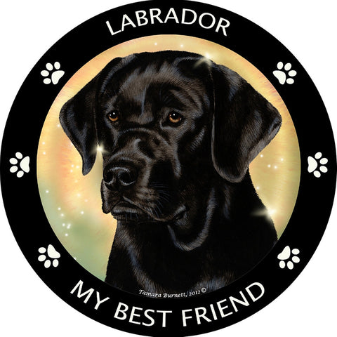 Black Labrador My Best Friend Magnet