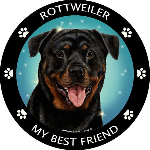 Rottweiler My Best Friend Magnet