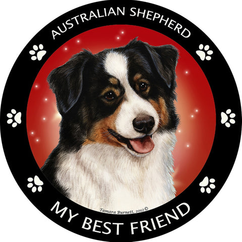 Black Tri Australian Shepherd My Best Friend Magnet