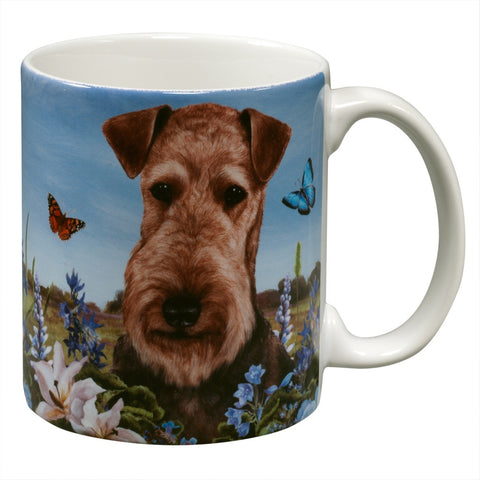 Airedale Garden Party Fun Mug