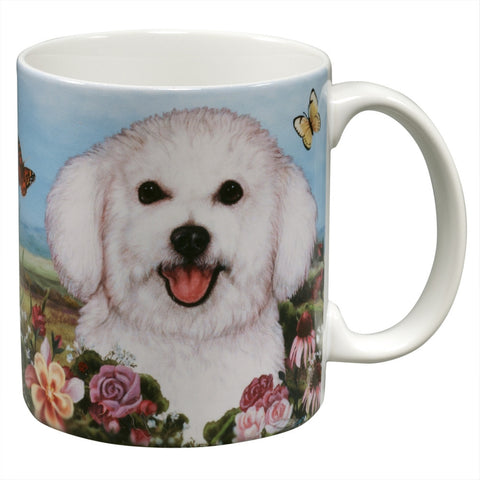 Bichon Frise Garden Party Fun Mug