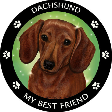Dachshund Red My Best Friend Magnet