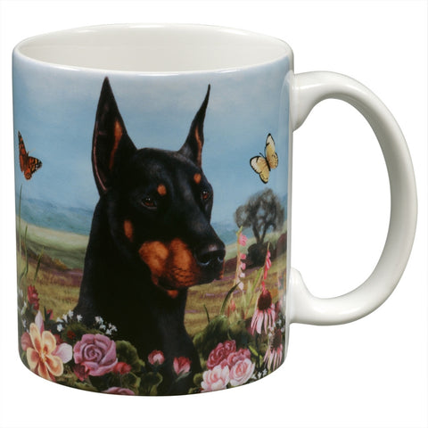 Doberman Garden Party Fun Mug