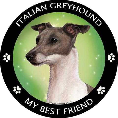 Italian Greyhound My Best Friend Magnet