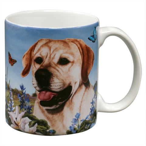 Yellow Labrador Garden Party Fun Mug