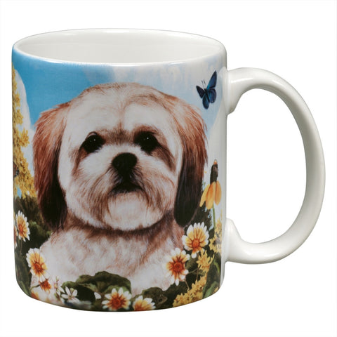 Lhasa Apso Garden Party Fun Mug