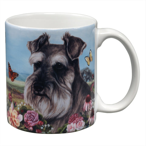 Schnauzer Uncropped Garden Party Fun Mug
