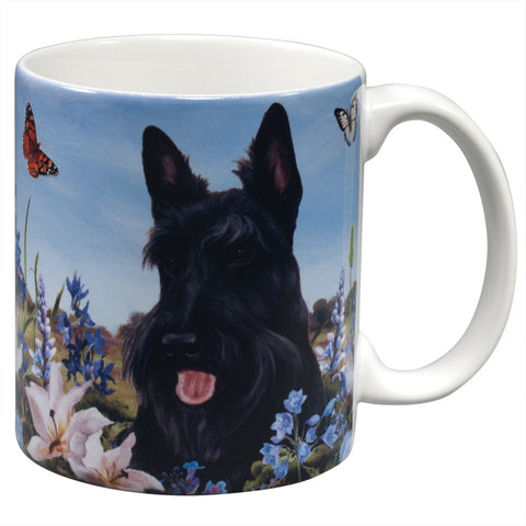 Scottish Terrier Garden Party Fun Mug