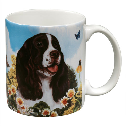 Springer Spaniel Garden Party Fun Mug