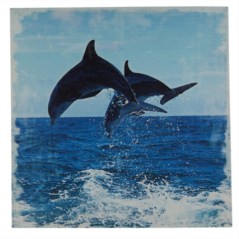 Dolphins Jumping Canvas Art