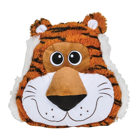 Tiger Head Plush Pillow