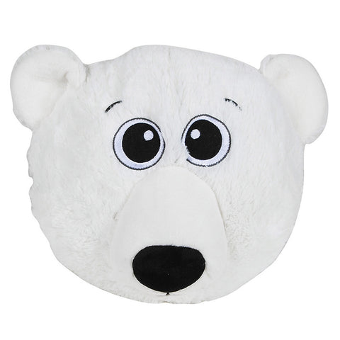 Polar Bear Head Plush Pillow