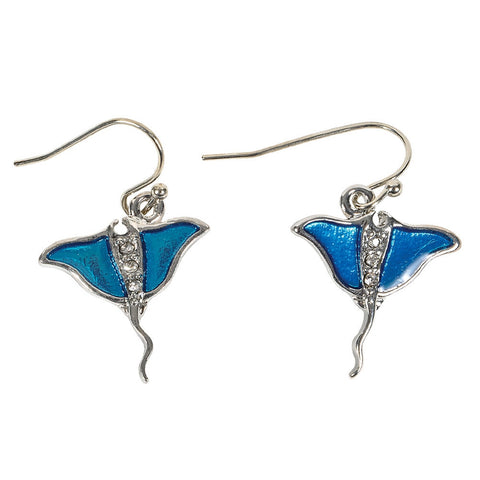 Mantra Ray Dangle Earrings