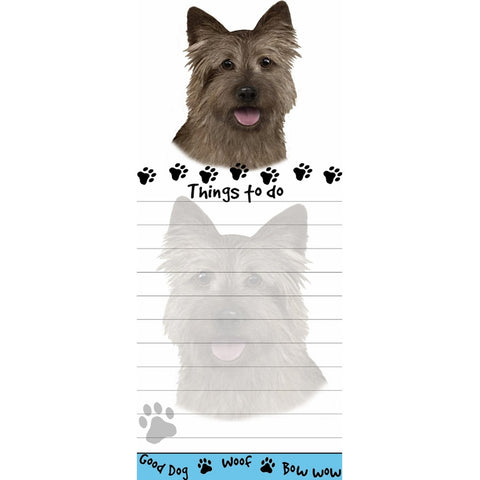 Cairn Terrier Tall Magnetic Notepad